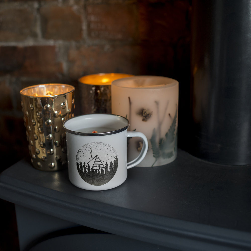 New Mug Candles - And now for something I've been working on for a while,I'm really excited to share these! I was thinking about how I always buy candles that smell like the woods, and they're never quite right, and then I was shopping for citronella candles for the garden and they were all in really plain cheap looking glass, if they were in anything at all. So, I have come up with these and after much testing I can finally show you!