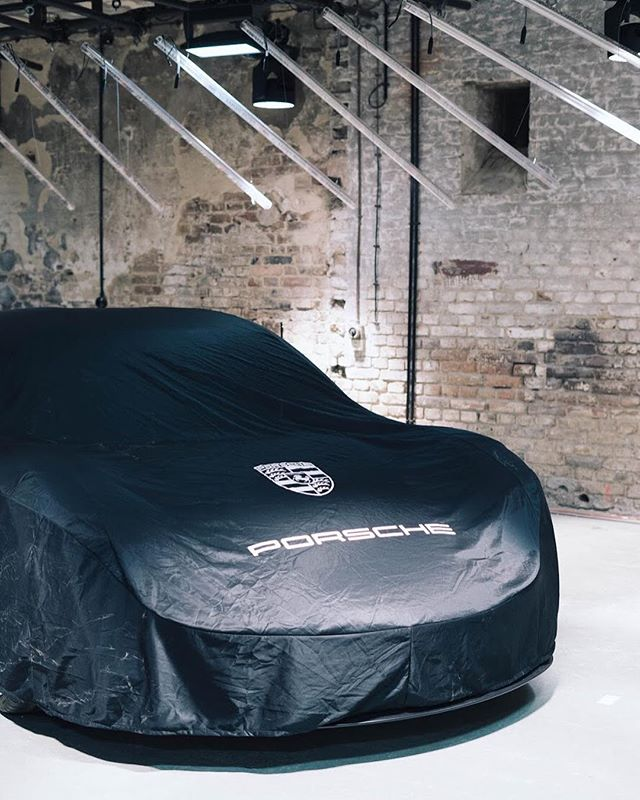 The Mission E - the first all-electric car by #porsche waiting to get unwrapped #scopesberlin #dreaminc #berlin