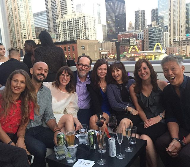 Let the festivities begin ❤️#fordartists #workmeetsplay #chicagoskyline