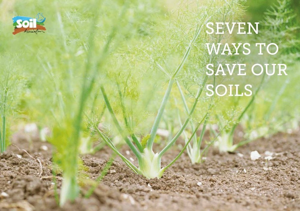 Seven Ways to Save Our Soils    The Soil Association  March 2016   Our soils are degrading, and so, therefore, is the long-term ability for farmers to keep up food production. This report outlines 7 key ways to increase Soil Organic Matter in UK arable and horticultural soils by 20% over the next 20 years.