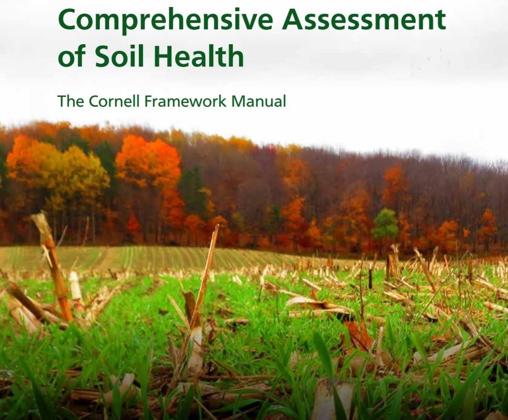 Comprehensive Assessment of Soil Health    Cornell University  September 2016   Qualitative on-farm, in-field assessment of soil health does not need to involve special analyses, only informed observation and interpretation of soil characteristics.