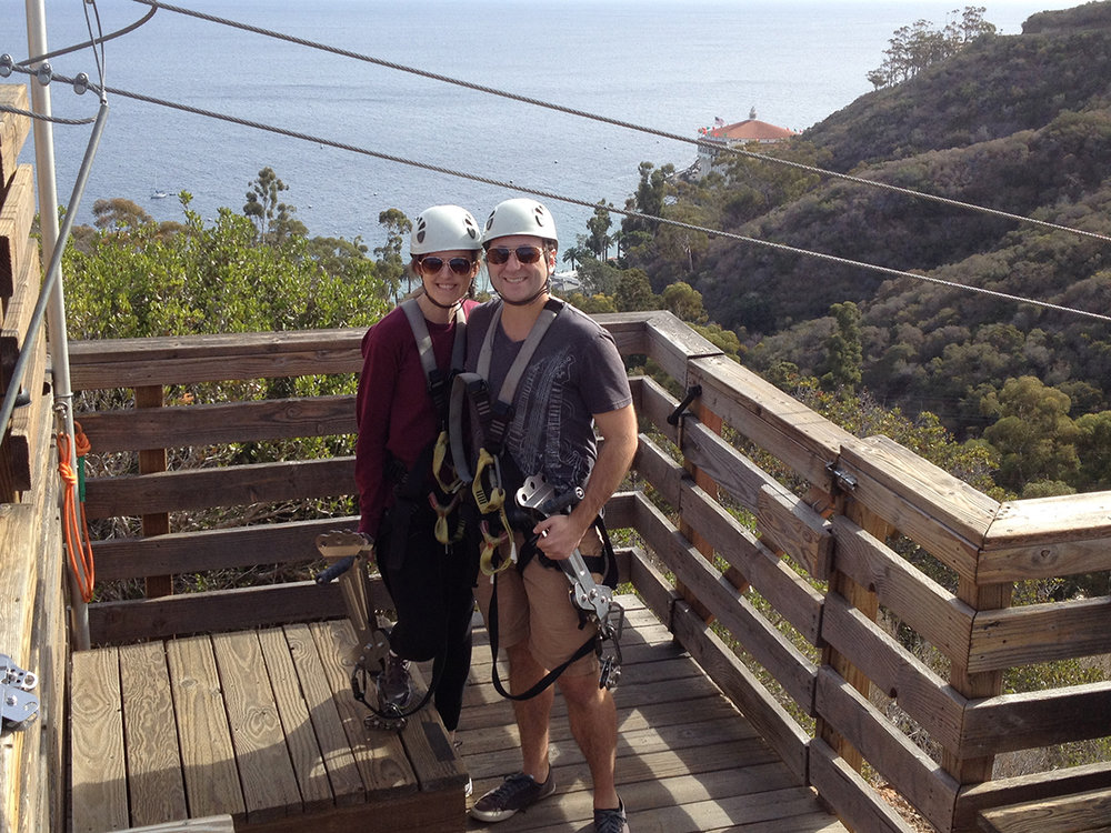 Ziplining on Catalina Island – California