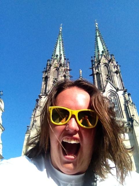 utside of my favorite building in Olomouc, Czech Republic: St. Wenceslas Cathedral