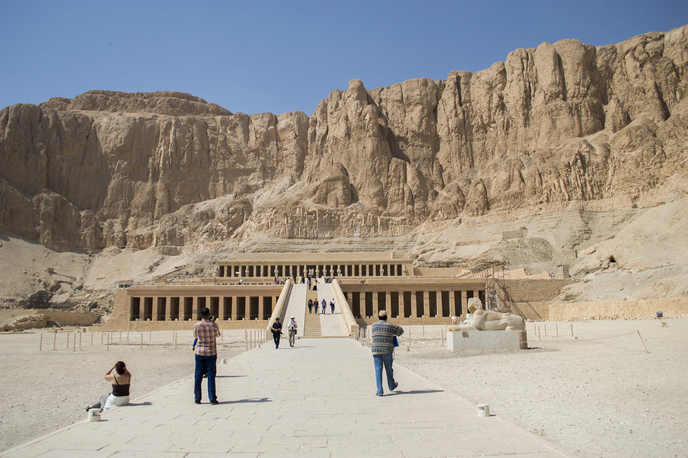 During our trip to Egypt, we visited Luxor for a day. Hatshepsut was one of the temples we visited.