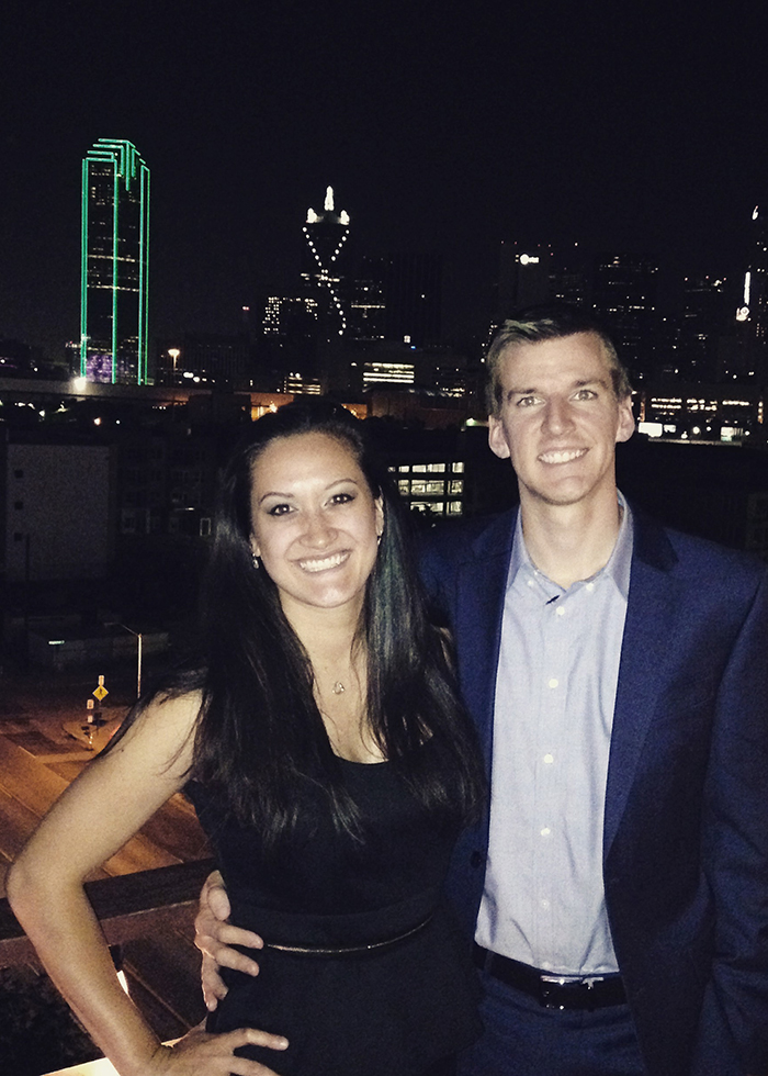 enjoying Dallas' best rooftop bar with a view