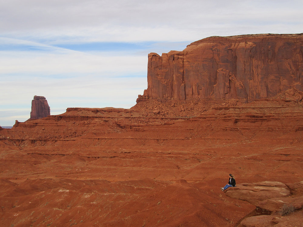 Feeling smaller than normal in Monument Valley