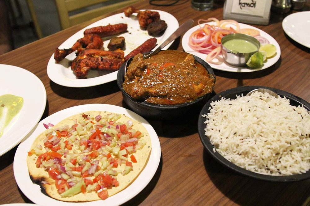 North Indian food at Handi Restaurant