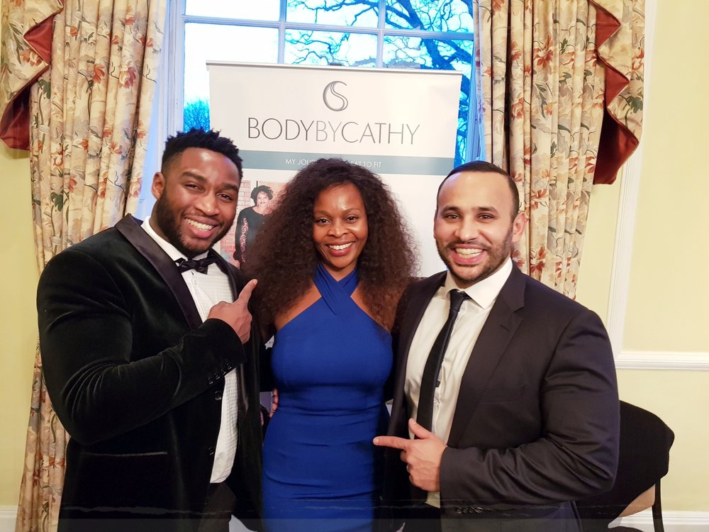 I couldn't do it without my personal trainers Mina and Ricky.