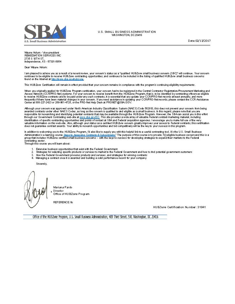 Remediation Services Inc Remediation Services Inc