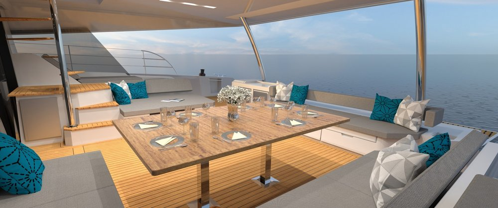 Fountaine Pajot Dining Deck.jpg