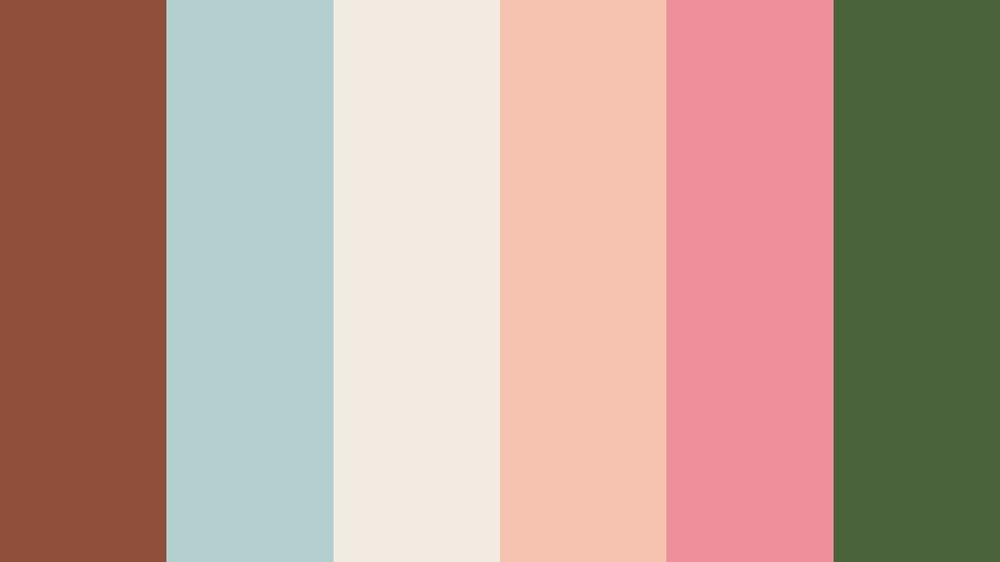 Smokey Topaz, Morning Blue, Linen, Melon, Candy Pink, Hunter Green -