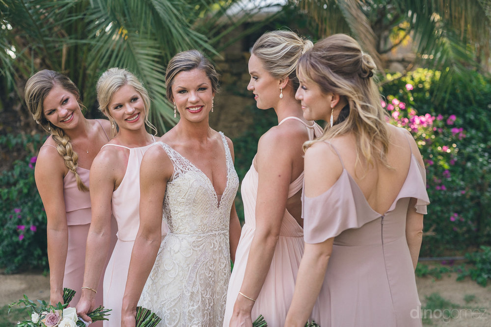 These girls had a great set of hairstyles from the brides simple bun, to half up with a bun, and a side braid.