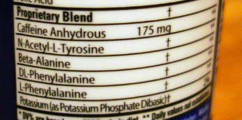 This proprietary blend doesn't even disclose the total ingredient amount! At least it shows how much caffeine is in it. But you have no idea about the other ingredients.
