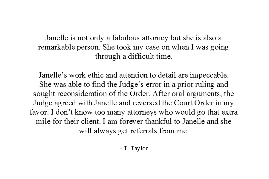 Colbert Law Firm - Janelle Ryan Colbert - Prince Georges County Maryland Attorney - Client Testimonial 3.jpg