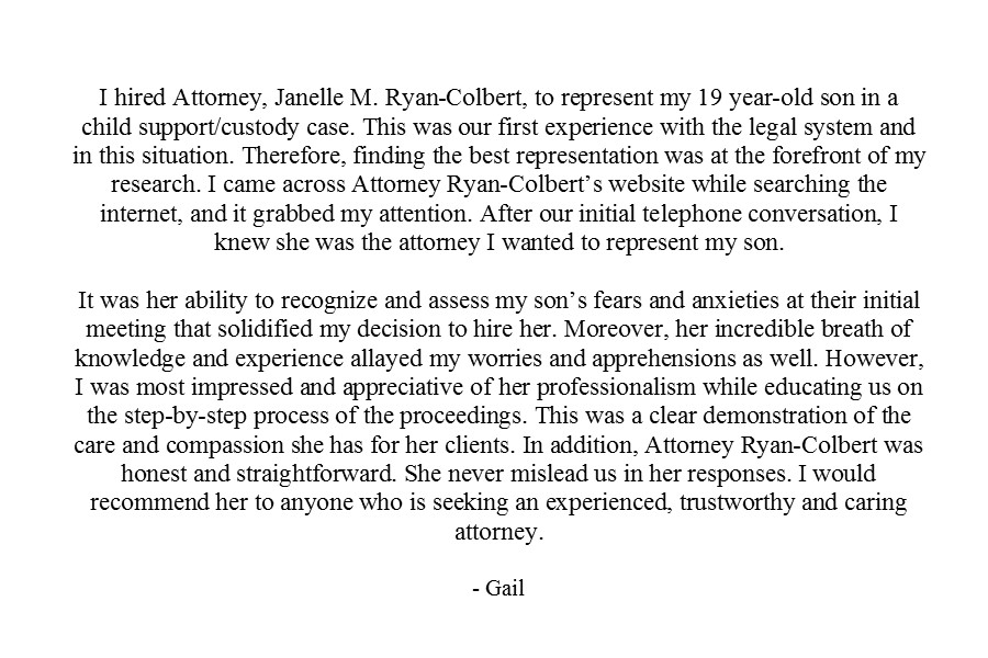 Colbert Law Firm - Janelle Ryan Colbert - Prince Georges County Maryland Attorney - Client Testimonial 5.jpg