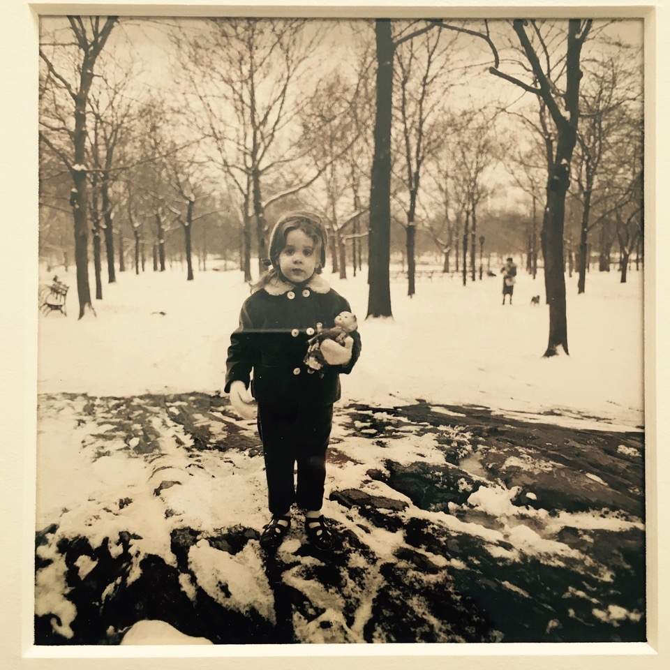 This photograph of me, aged 3, was taken in Central Park in 1963 by Diane Arbus.