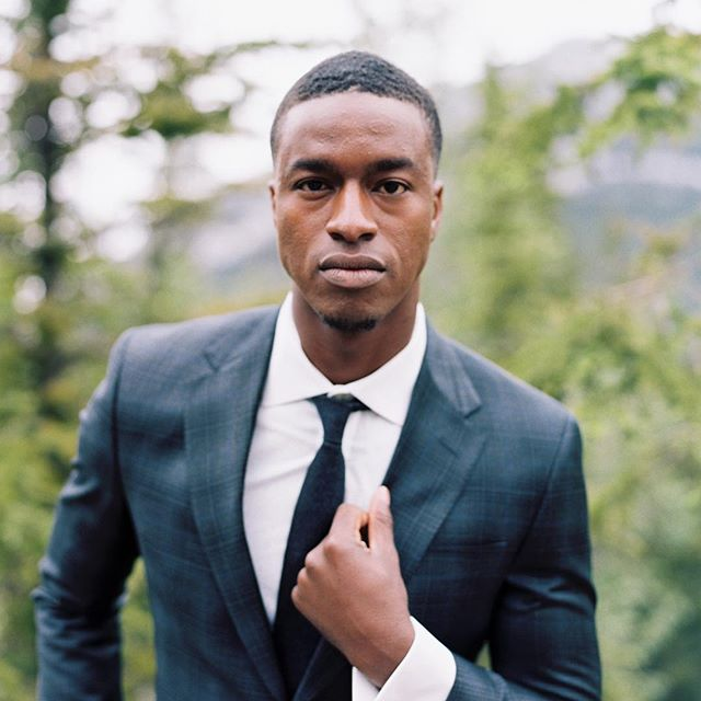 @sahrsjunior killing it #groomstyle all the way! Swipe -  Styled by @staceyfoleydesign  Venue: @rimrockresort | Lead Photographer: @miltonphoto | Creative Direction & Host: @joywed | Florals: @foxglovestudio | Stationery: @artandalexander | Beauty: @blushandcoco | Linens & Place Settings: @specialeventrentals | Candlesticks & Chairs: @modernluxerental | Cake: @prettysweetyyc | Ribbon: @stellawolfeco | Dress: @thebridalboutiqueyyc | Suit: @ewmenswear | Car: @highlandvipgroup | Models: @thee_emilybrown & @sahrsjunior