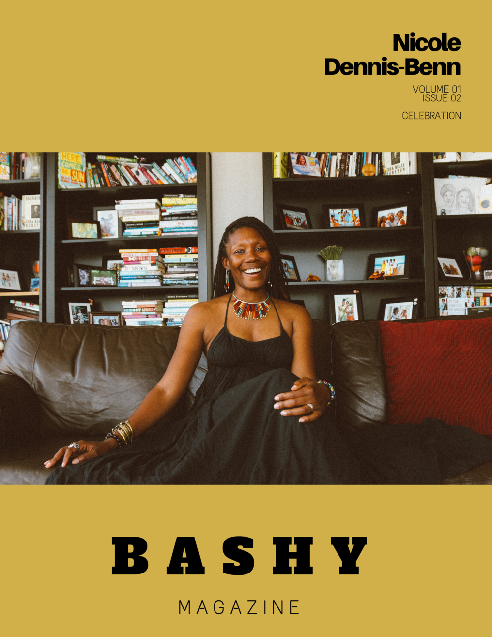 Volume 01, Issue 02 BASHY Magazine Cover Nicole Dennis-Benn