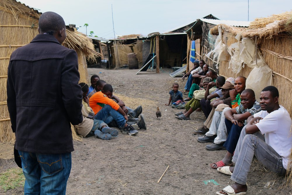 Mazabuka malaria focal point person Fortune Bwenje is sensitizing fisherman and their families on Chinyuka Island. -