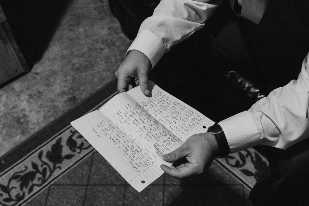 One of the best moments is watching the bride and groom read their love letters from each other. It was a mix of tears and laughter but such a joy to capture! Little did they both know that they had ended their letters the EXACT SAME WAY. It was destined.