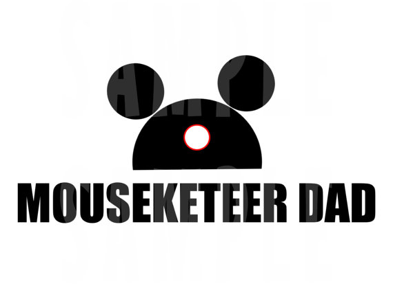 Mousketeer Disney Dad Shirt