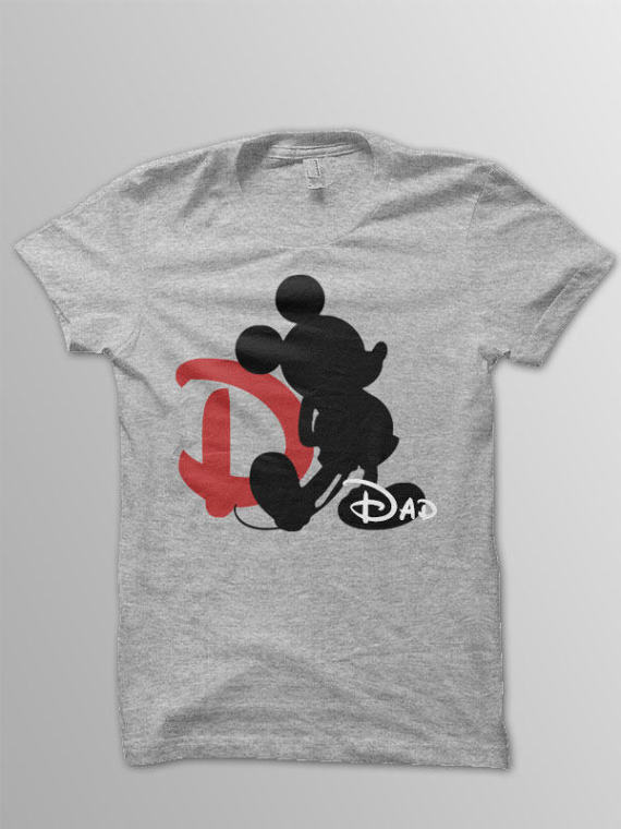 Heather Grey Disney Dad Shirt