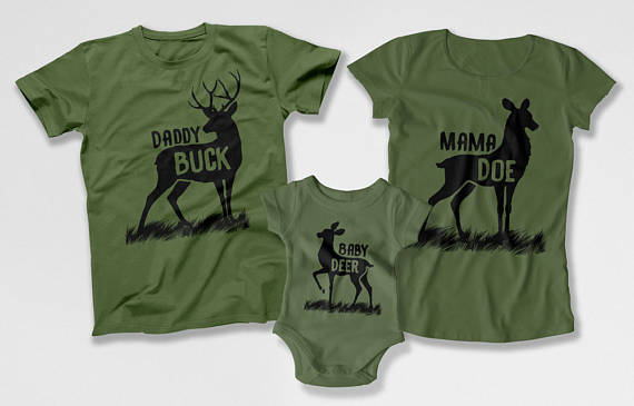 Family Buck Shirts - Daddy Buck Baby Doe