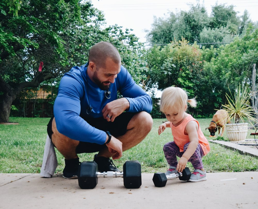 At home workouts for dads