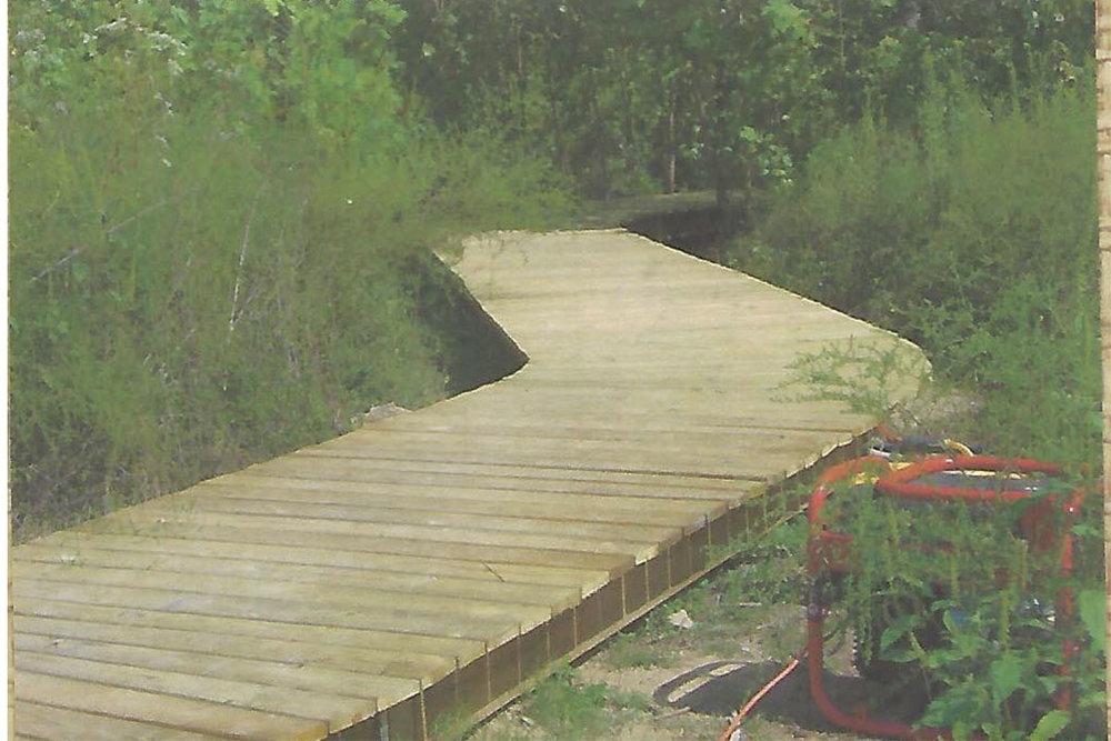 Chip Pottinger Jr.'s pavilion boardwalk.