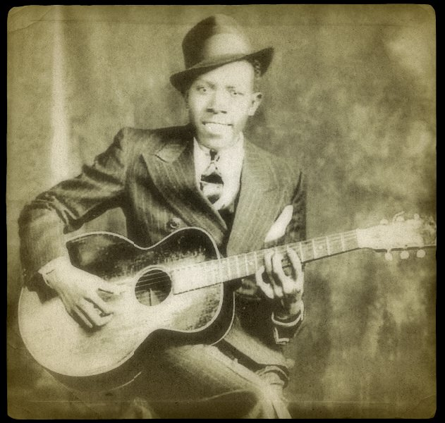 Bluesman Robert Johnson – legend has it that he made a pact with the Devil at the crossroads and achieved fame and glory, only to die at 27