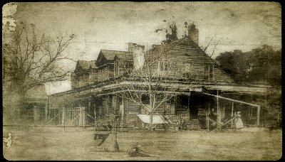 David Bradford's Louisiana home, Laurel Grove, which would someday become the Myrtles Plantation.