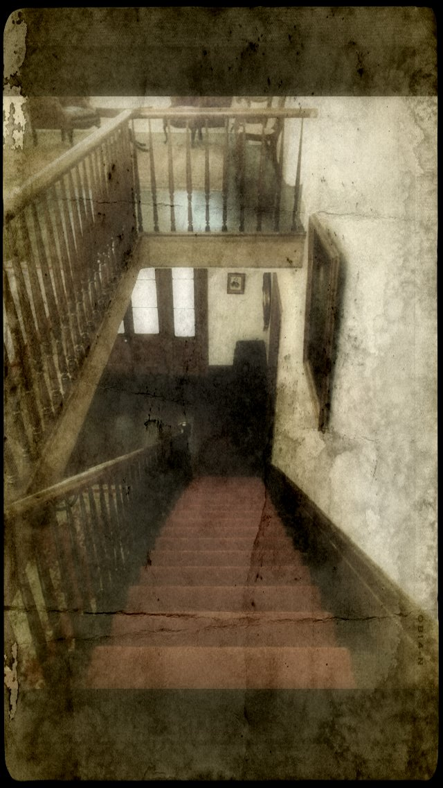 The infamous staircase where witnesses report the sound of phantom footsteps, which stop on the seventeenth step -- where William Winter died in the arms of his true love. Unfortunately, that event never happened -- Winter died on the front porch.