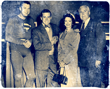 The cast of  Superman  in a happy moment.