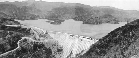 THE ST. FRANCIS DAM BEFORE THE DISASTER