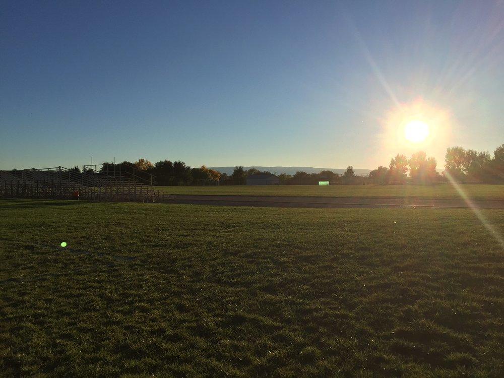 Sunset on the field.JPG