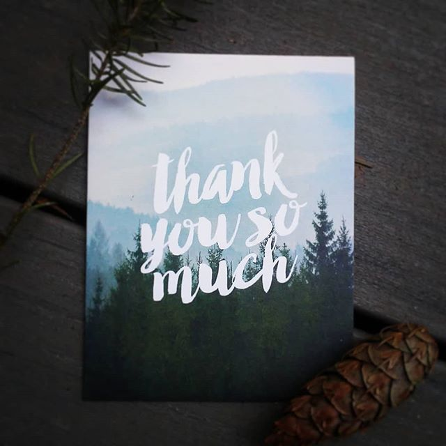 Thanks for a great year! Its always an honor to receive thank you cards in the mail from our vendors! Thanks @clarysagestudio