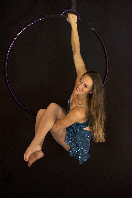 Holly Dison Aerial lyra pose