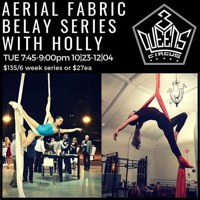 New series starts Tuesday oct 23rd! Come unravel the mysteries of the silks belay wrap from the belay queen herself @hdison !!!