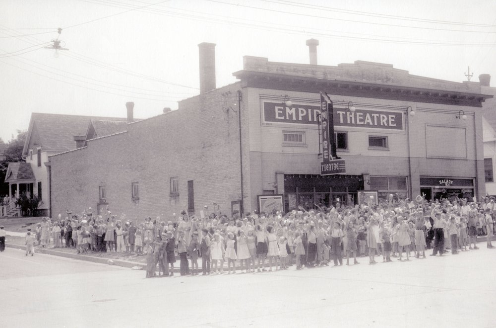 """July 25, 1941 """"Aluminum Matinee"""" at Empire Theater in Manitowoc."""