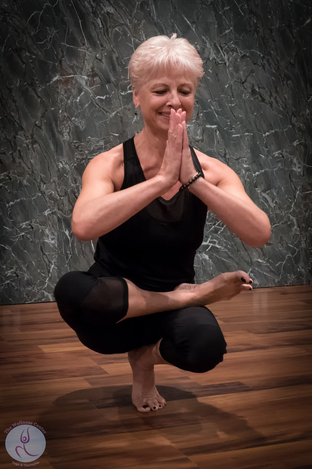 Emily Slonina, Yoga Instructor  Specialty Certifications: Yoga Wall, Chair Yoga, Sound Healing, Certified Yoga Therapist  Yoga Wall Tuesdays @ 10:00 AM