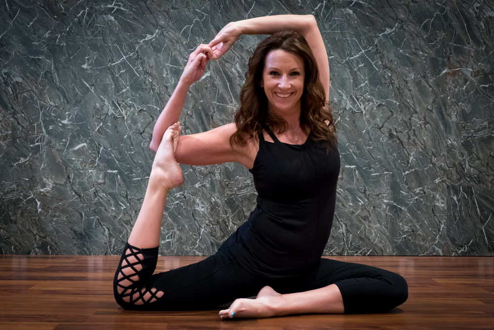 Katie Sprouls, Yoga Instructor, Yogis for the Cause Co-Coordinator, YTT Curriculum Designer & Co-Director  Specialty Certifications: Aerial Yoga Level 1 & 2, Yoga Wall, Barre, Kids w/ Special Needs  Aerial Yoga - Level 1 Mondays @ 5:30PM & Thursdays @ 10AM  Aerial Yoga - Level 2 Thursdays @ 6:00 PM  Restorative Yoga  Fridays @ 6:15 PM  Restorative Fridays @ 6:15 PM  The Wellness Center YTT Faculty Member