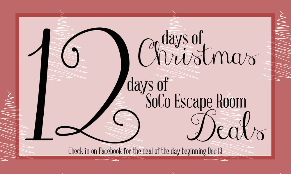*12 Days of Christmas Deals and non-transferrable and non-refundable. All sales are final.