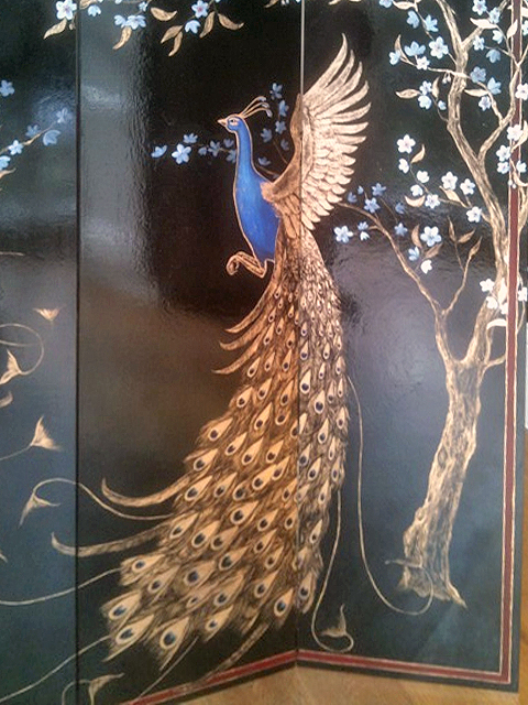 Frederick Wimsett - murals and artistic design - Peacock Screen Detail 2.jpg