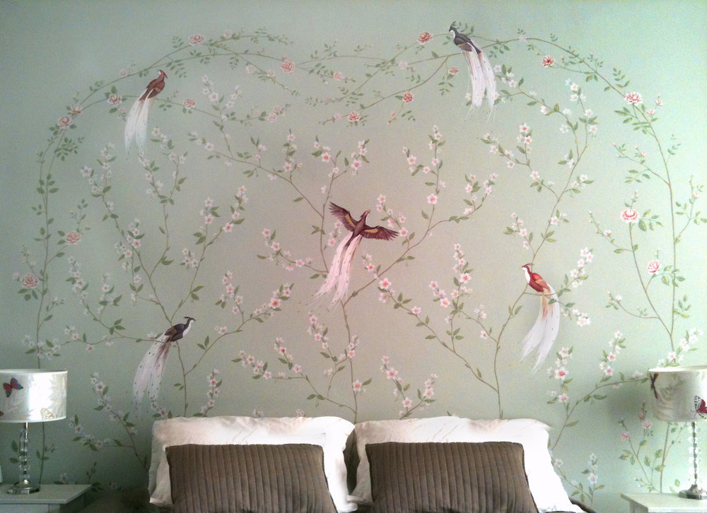 Bird of Paradise  Headboard Frederick Wimsett - murals and artistic design - other projects