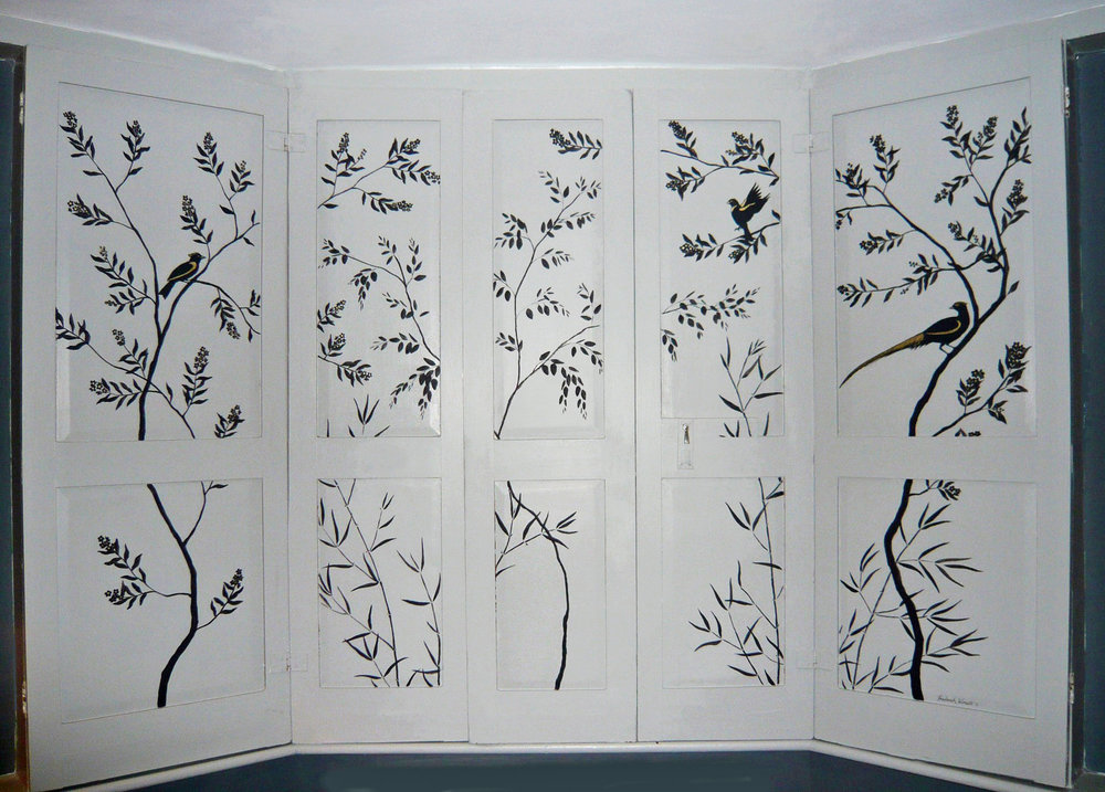 Silhouette Shutters Frederick Wimsett - murals and artistic design - other projects