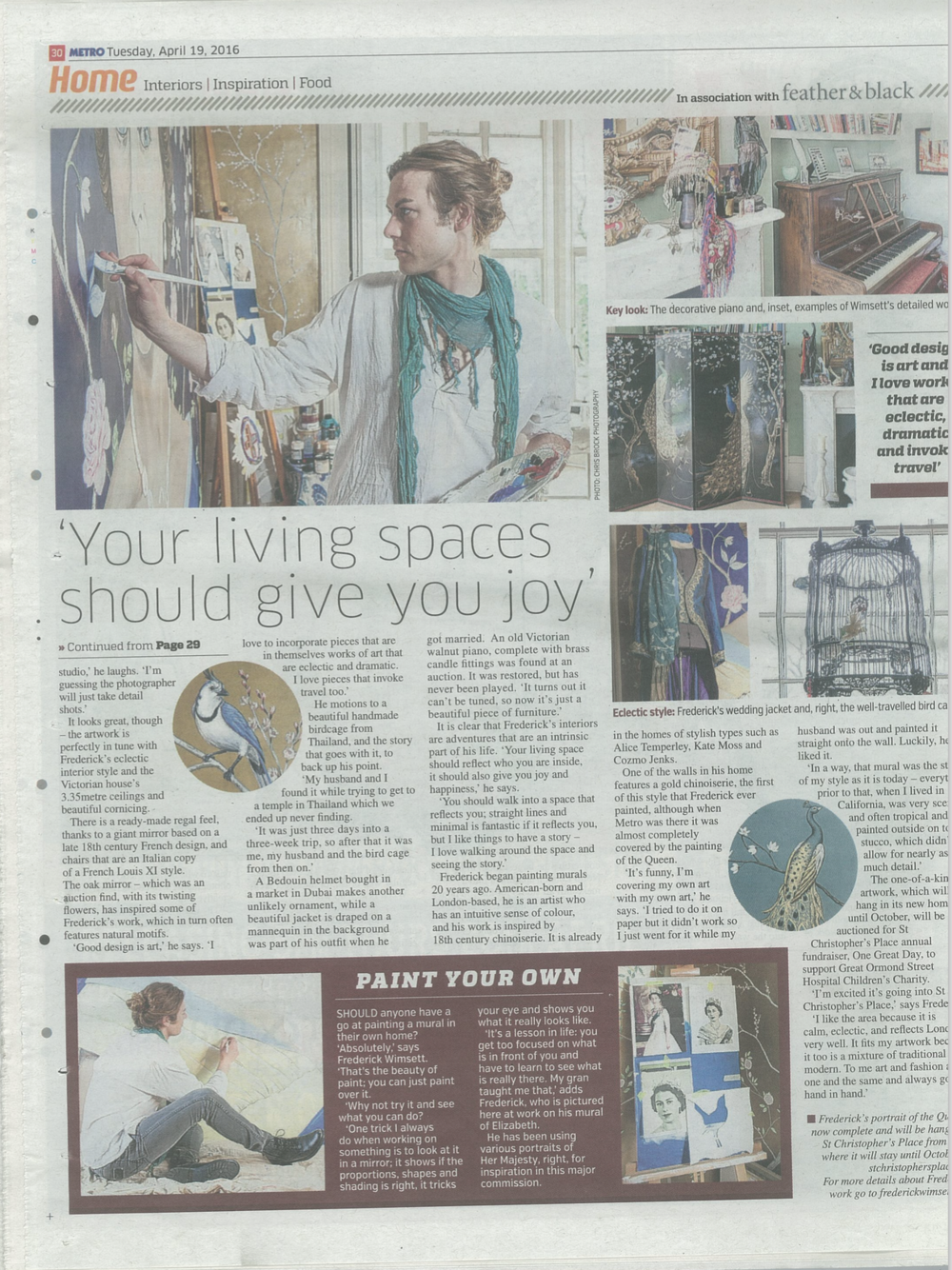 frederick wimsett - press - metro - interiors feature- murals and artistic design p2