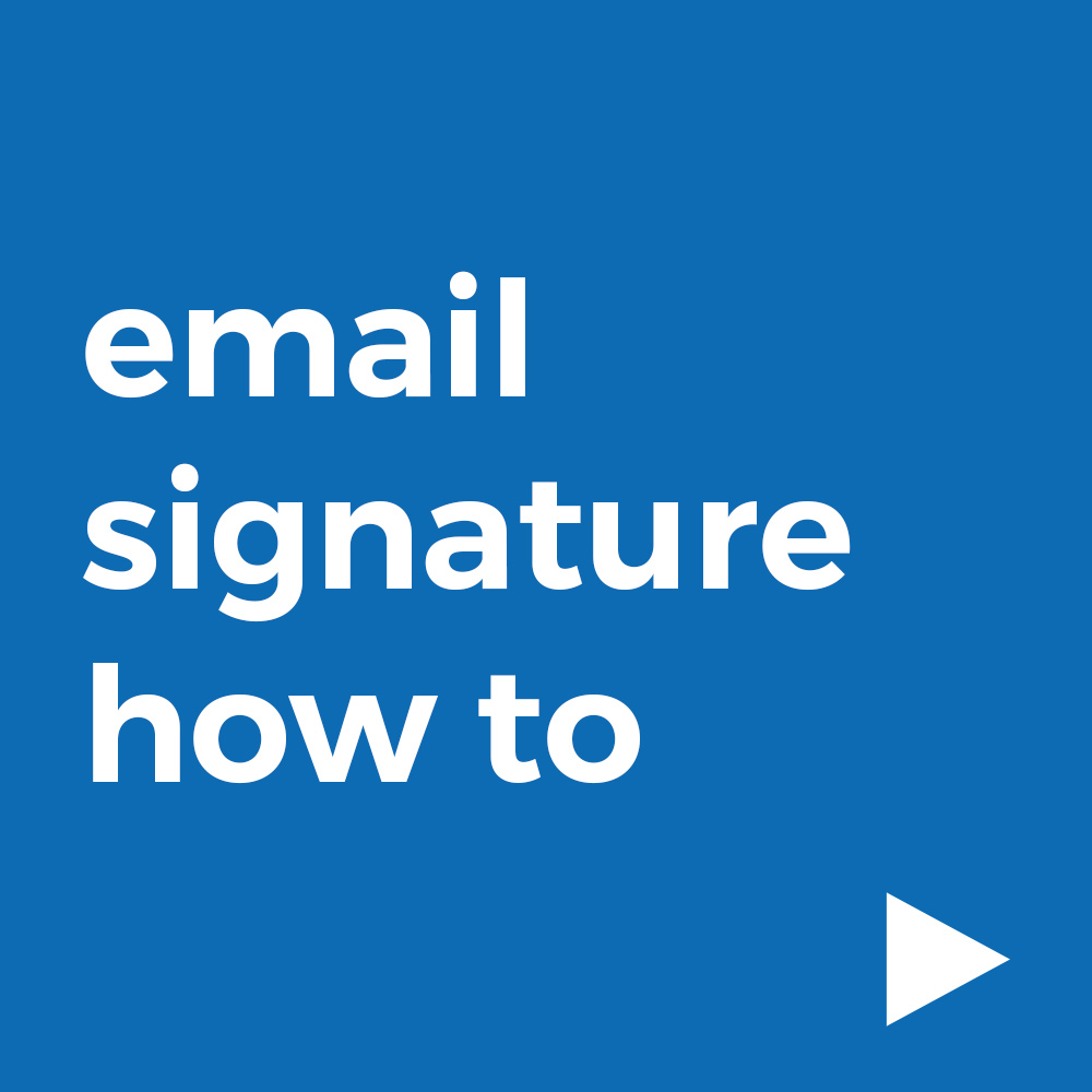 Email Signature How To