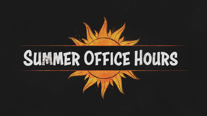 MCC Summer Office Hours — Maryland Community Church
