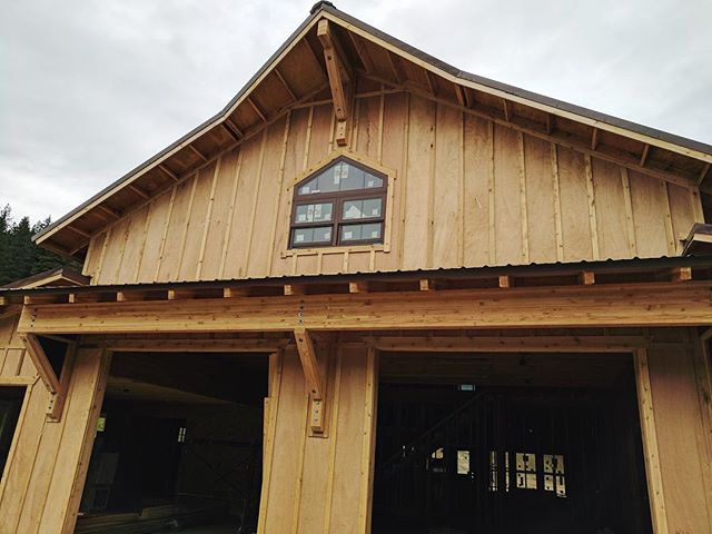 This window is the perfect finish on this barn style home!