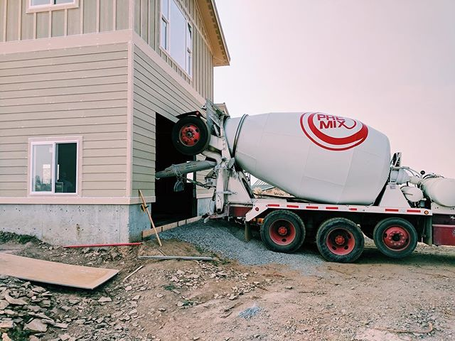 Working with some concrete again today means we're making some serious headway on this detached garage!